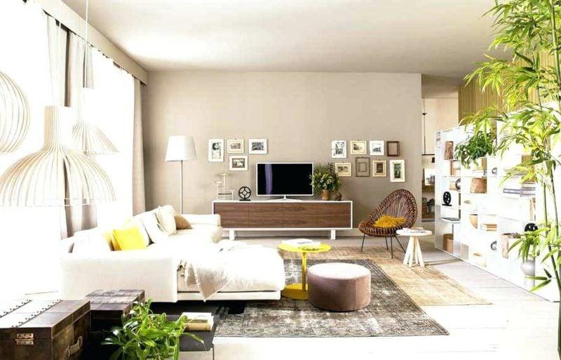 Wohnzimmer Farblich Gestalten Weiss Und Beige Bequem Einladend