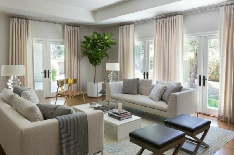 Wohnzimmer farblich gestalten neutral Beige Hellgrau Cremefarbe