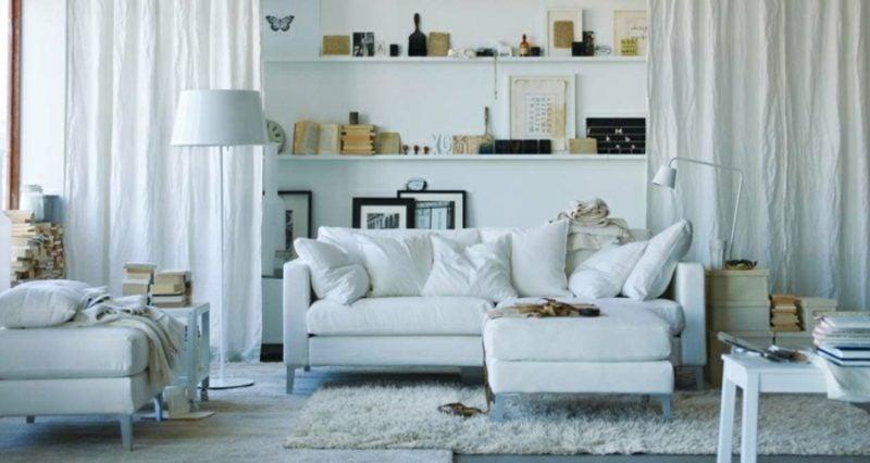 Wohnzimmer farblich gestalten weiss skandinavisch