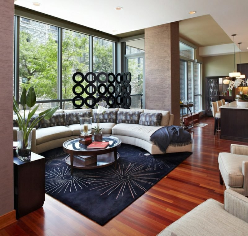 welche Farben passen zusammen Farbgestaltung Wohnzimmer modern