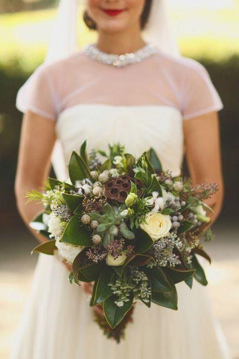 Blumenstrauß Hochzeit Vintage Look