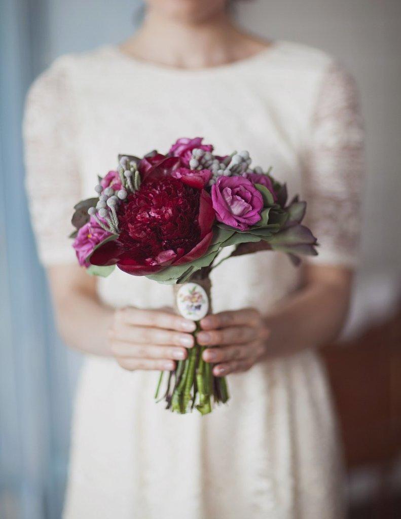 Brautstrauß Rosen romantische Hochzeit