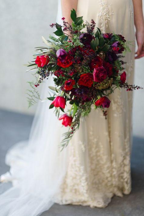 Hochzeitsstrauß Vintage mit Wildblumen