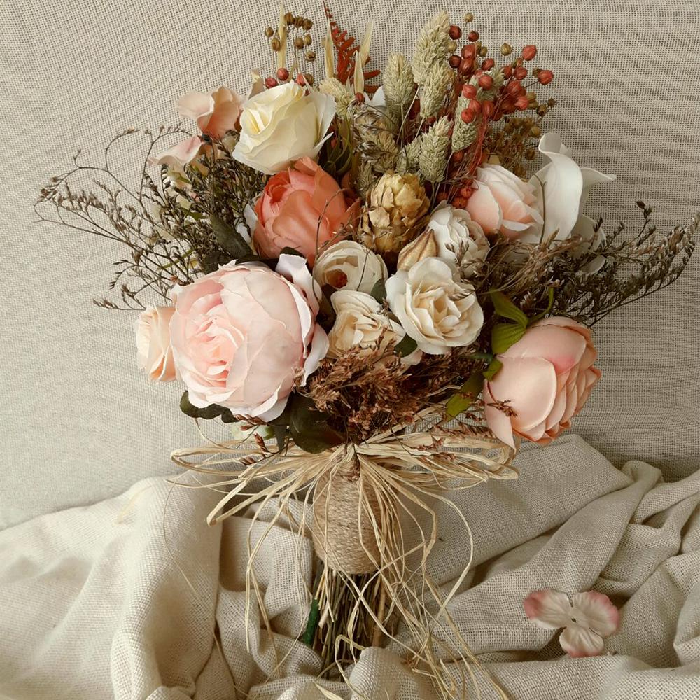 Brautstrauß Vintage Look - Ideen für Vintage Hochzeit