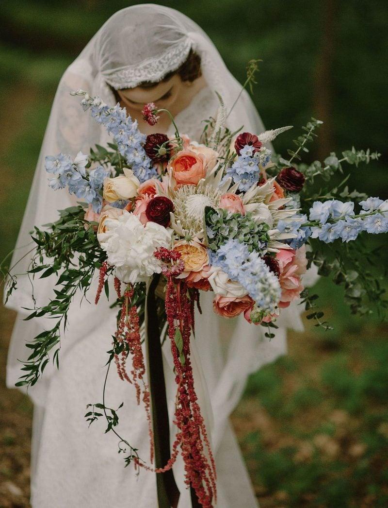 Hochzeit Brautstrauß Vintage Look