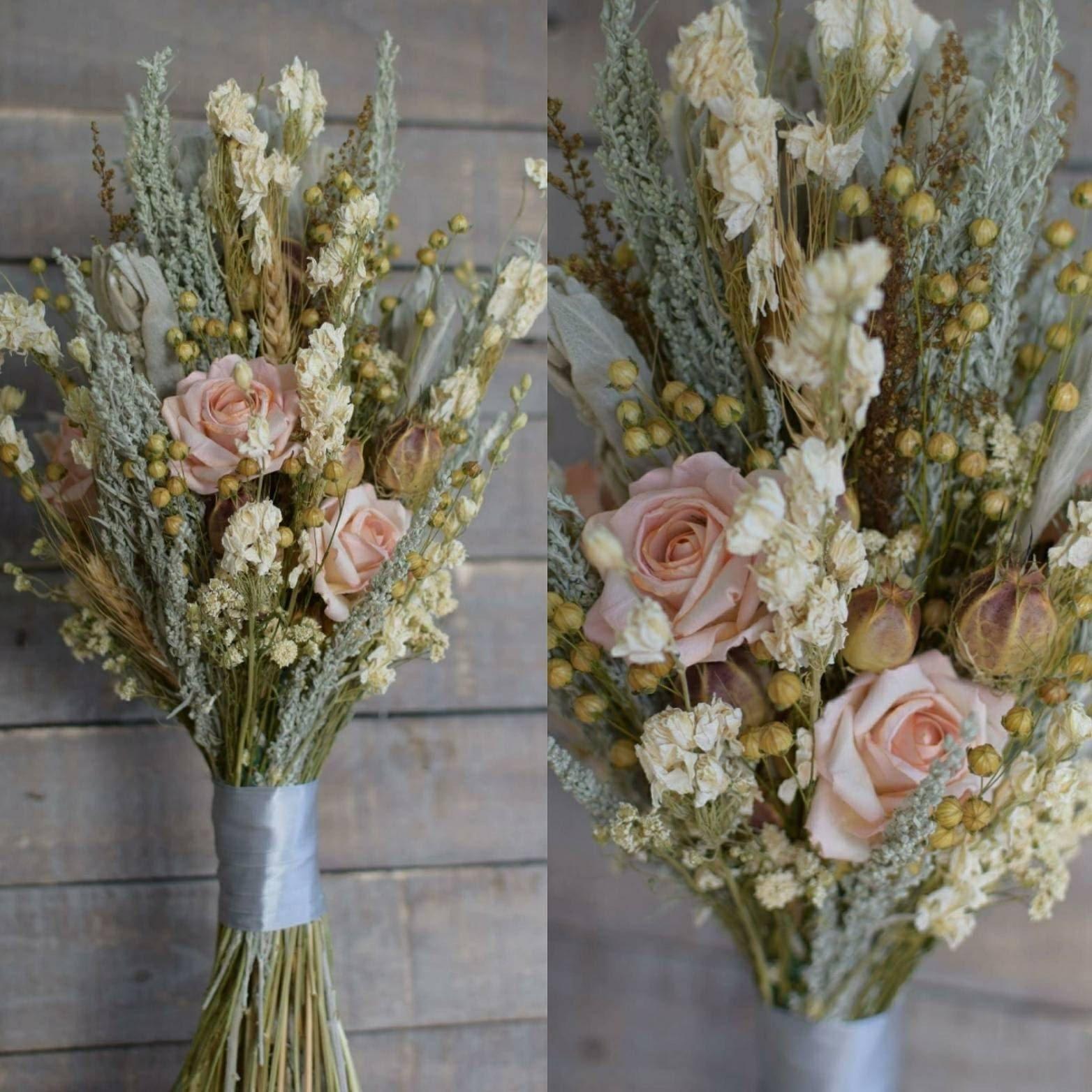 Brautstrauß Wiesenblumen Ideen für Vintage Hochzeit