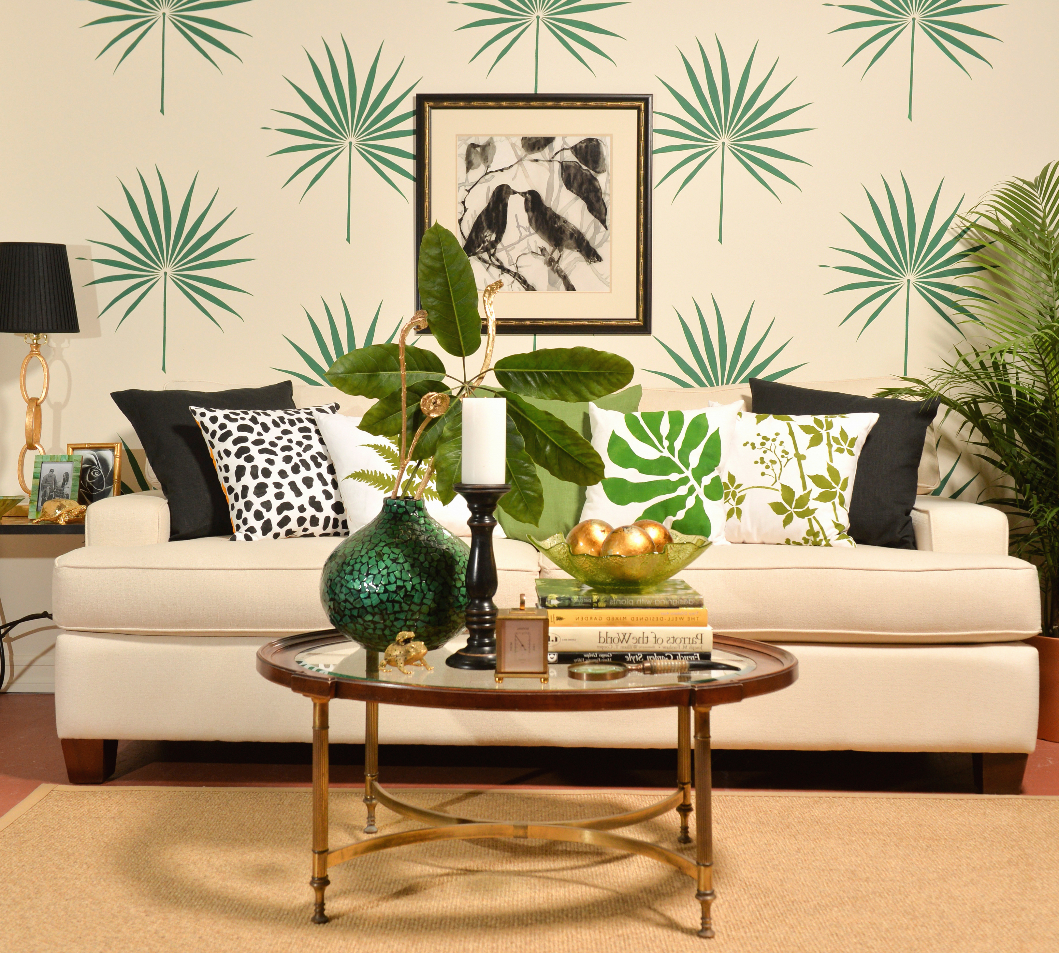 Tropisches Wohnzimmer einrichten