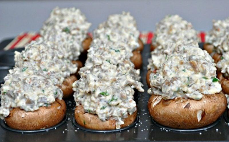 Actifry Rezepte Champignons mit Schinken und Frischkäse