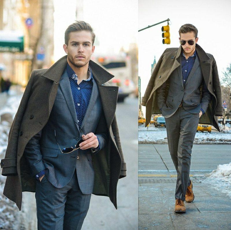 Anzüge Herren gar brauner Mantel