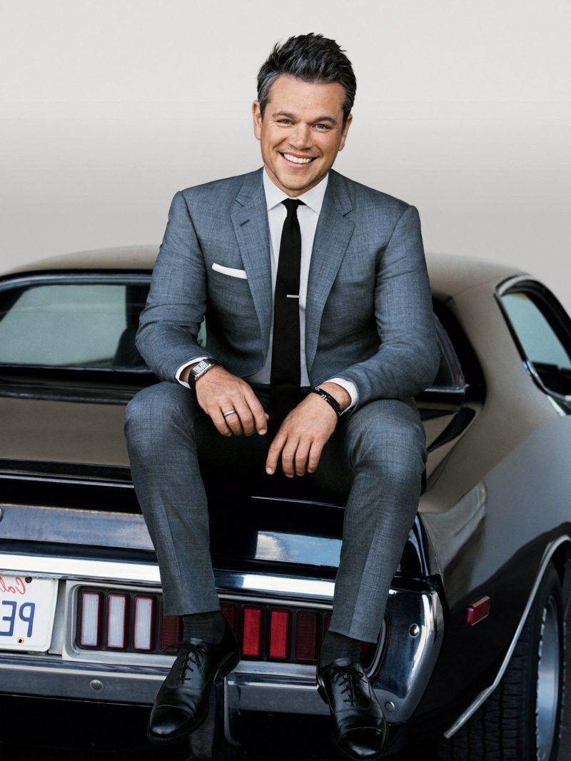 Anzüge Herren grau Matt Damon