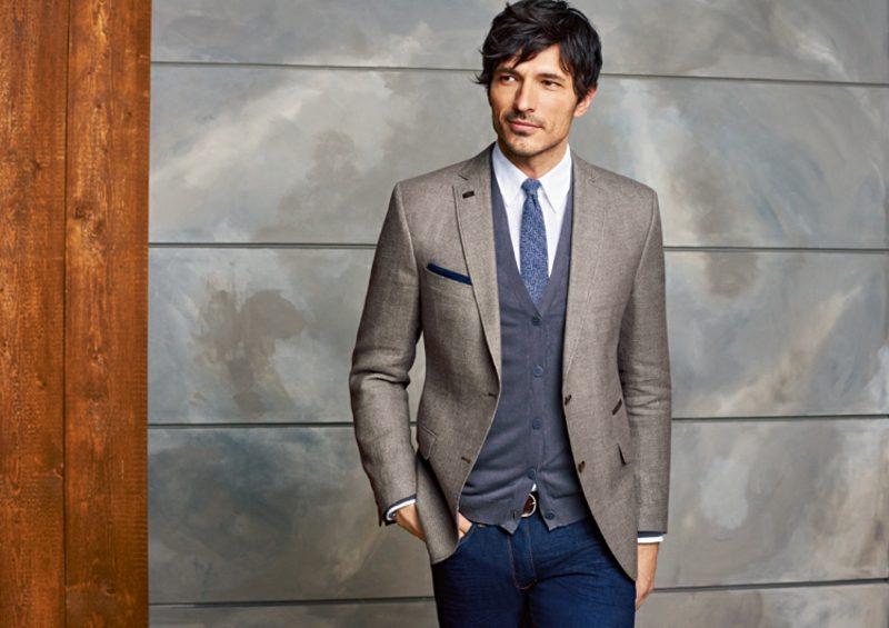 Anzüge Herren Sakko Weste Krawatte Jeans