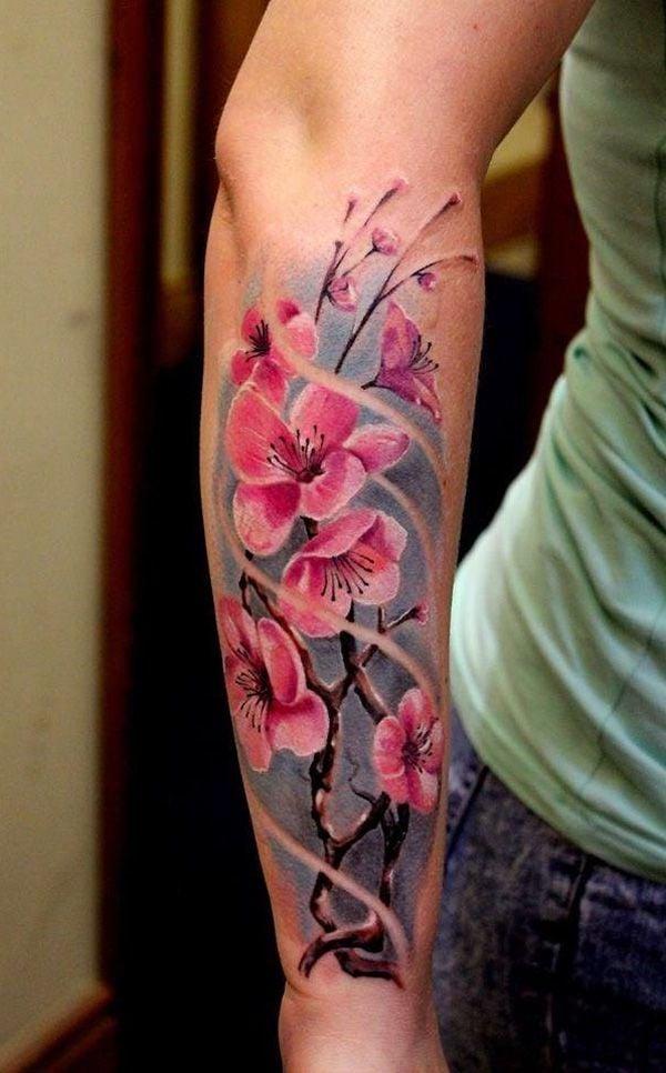 kirschbl ten tattoo was macht die asiatische t towierung. Black Bedroom Furniture Sets. Home Design Ideas