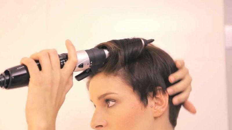 Kurze Haare locken Lockenstab Anleitung