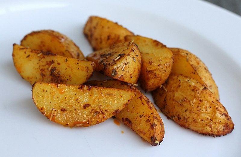 Actifry Rezepte mediterran Kartoffelspalten