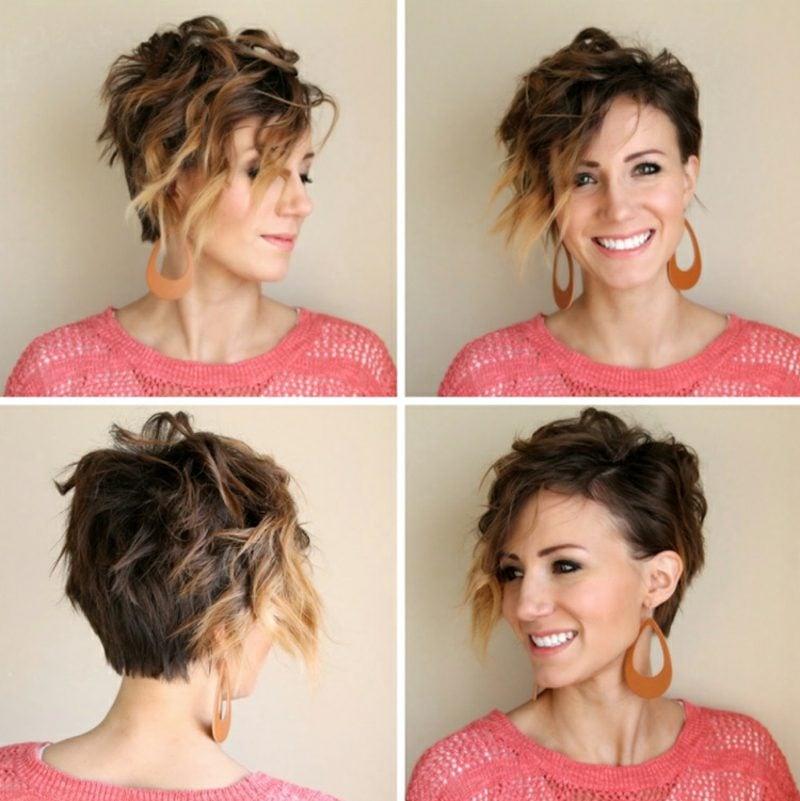 Kurze Haare locken mit garantiertem Ergebnis