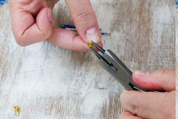 Viele tolle Ideen für Ohrringe mit Glasperlen selber machen