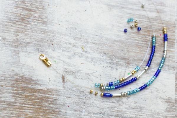 Viele tolle Ideen für Ohrringe mit Glasperlen selber machen: Anleitungen und Materialien