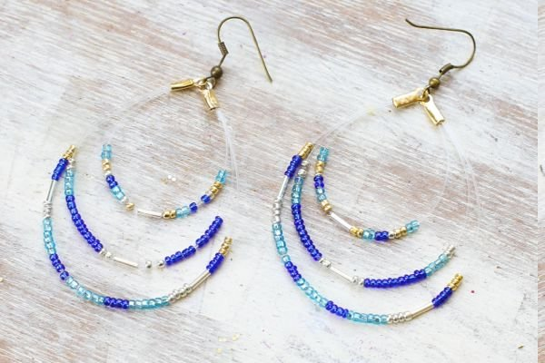 Ideen für Ohrringe mit Stein, Perlen, Draht