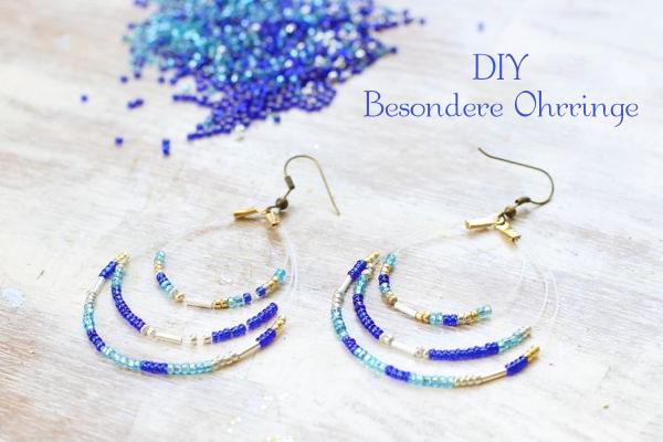 DIY Ohrringe mit Glasperlen selber machen