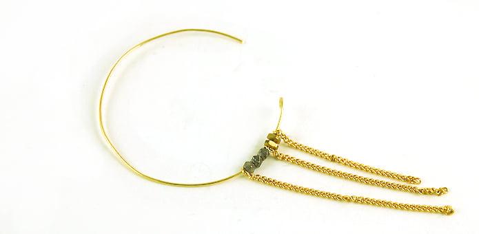 Besondere Ohrringe mit runder Form selber machen