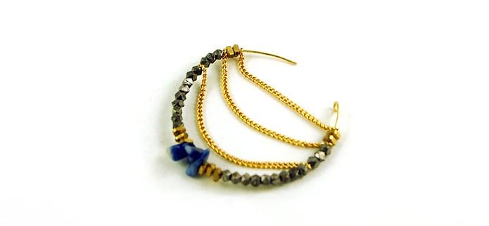 Tolle Ohrringe mit Kettenanhänger aus Draht selber machen