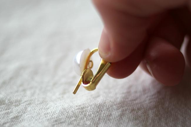 Schöne Perlen Ohrringe Hänger