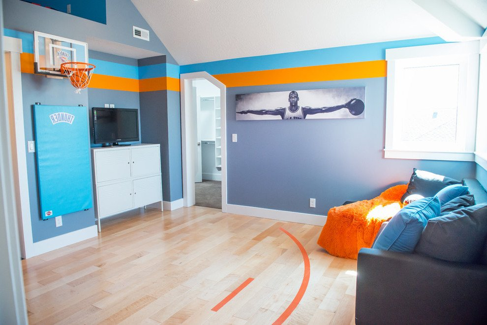 Coole Jugendzimmer Tapeten für alle Fans des Basketballs