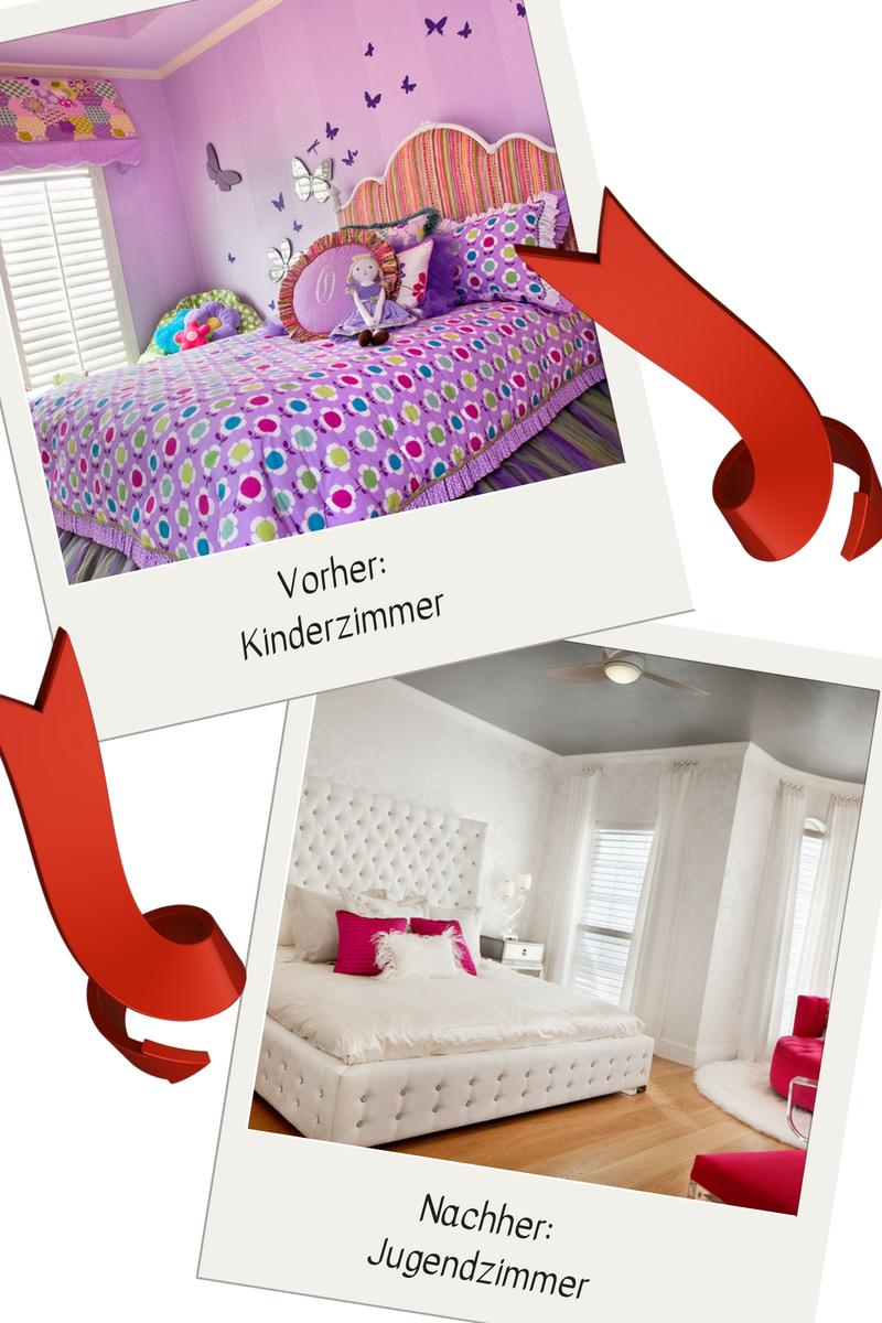 Umgestaltung Idee: Vom Kinderzimmer Lila Zum Jugendzimmer Weiß