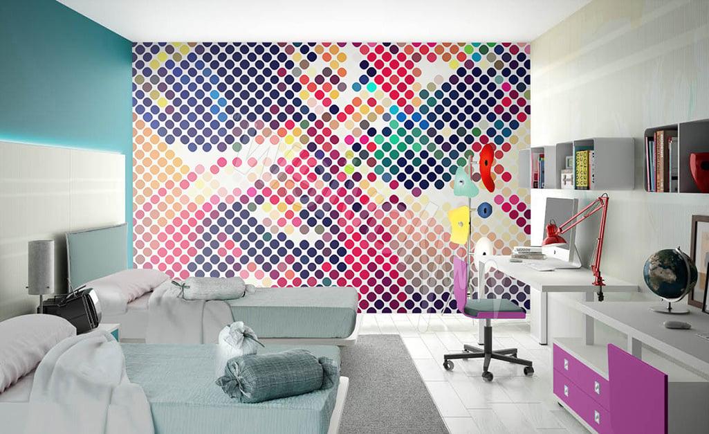 Jugendzimmer für zwei heranwachsenden: wunderschöne Ideen für Wandgestaltung mit Tapete Jugendzimmer
