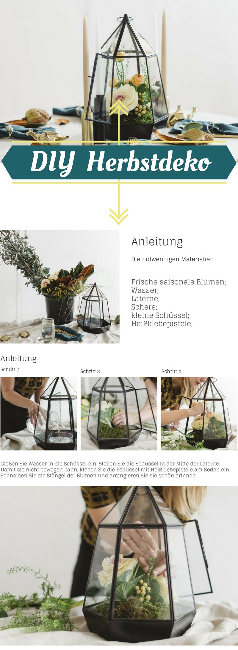 Tischideen Und Ambiente: DIY Herbstdeko Als Tischzierde
