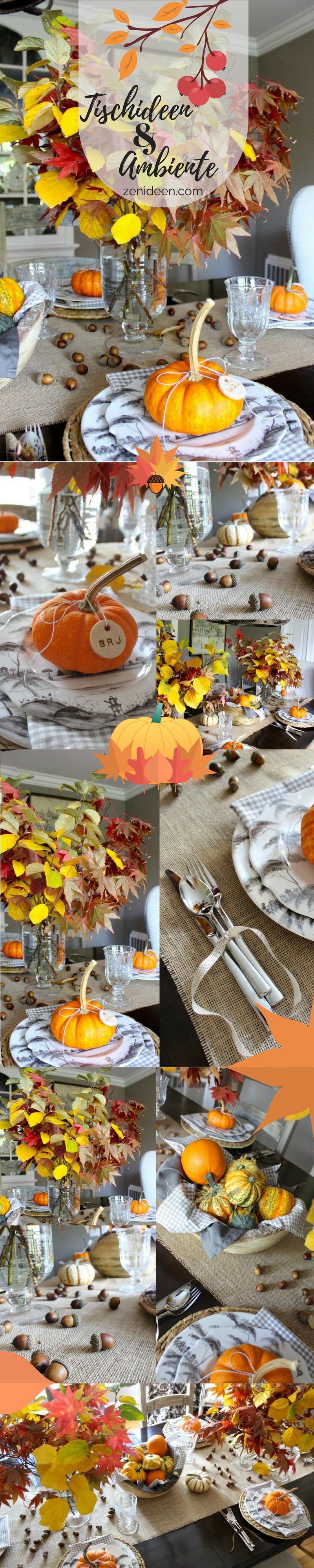 Herbstliche Tischideen und Ambiente