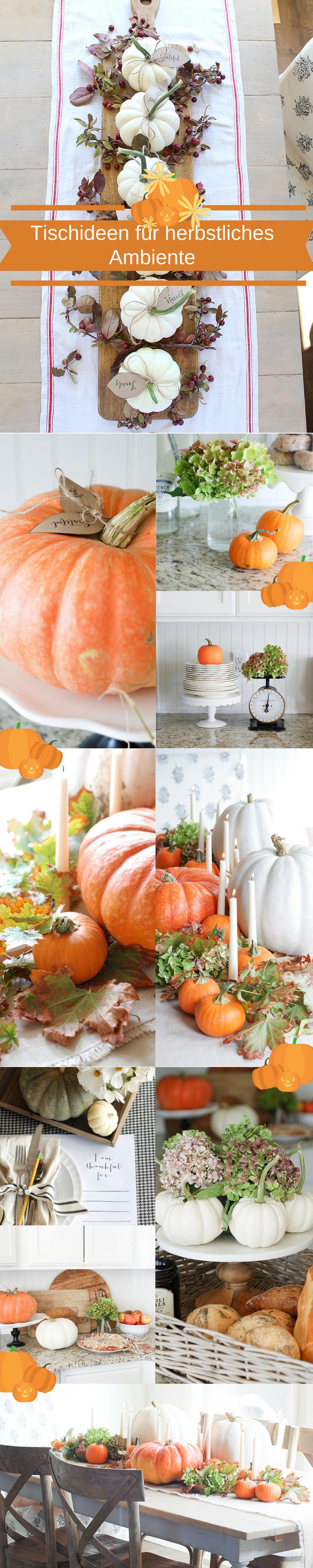 Herbstliche Tischideen und Ambiente: Wunderschöne Ideen für ein festliches Arrangement am Tisch