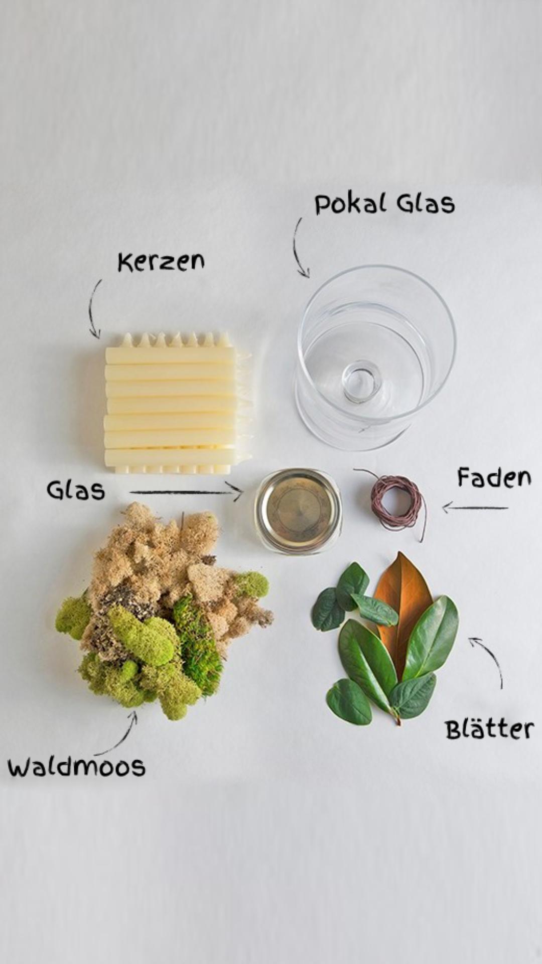 Tischideen und Ambiente: DIY Kerzenhalter als herbstliche Dekoration am Tisch