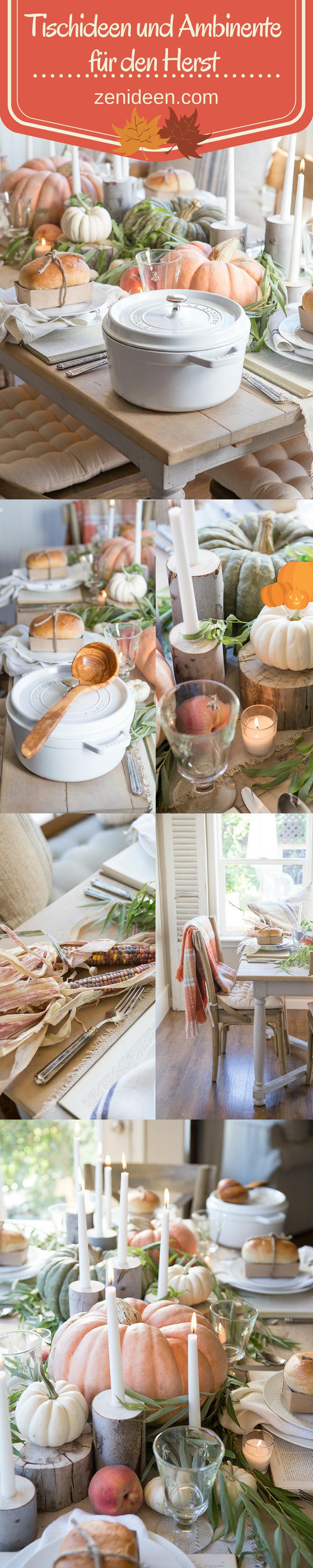 Tischideen und Ambiente für den Herbst