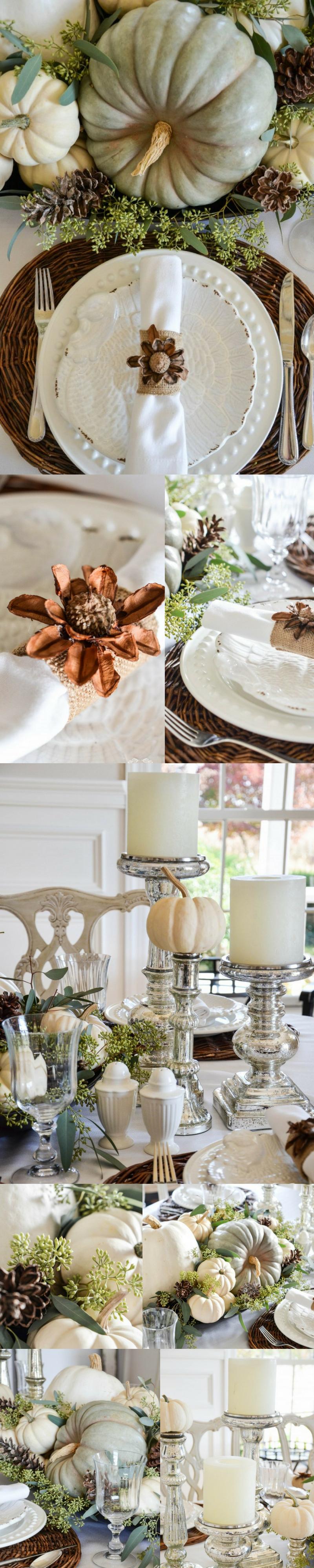 Herbstliche Tischideen und Ambiente: Wunderschöne Ideen für ein festliches Arrangement im Weiß