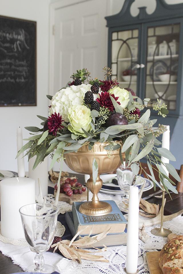Herbstliche Tischideen und Ambiente: Blumenvase