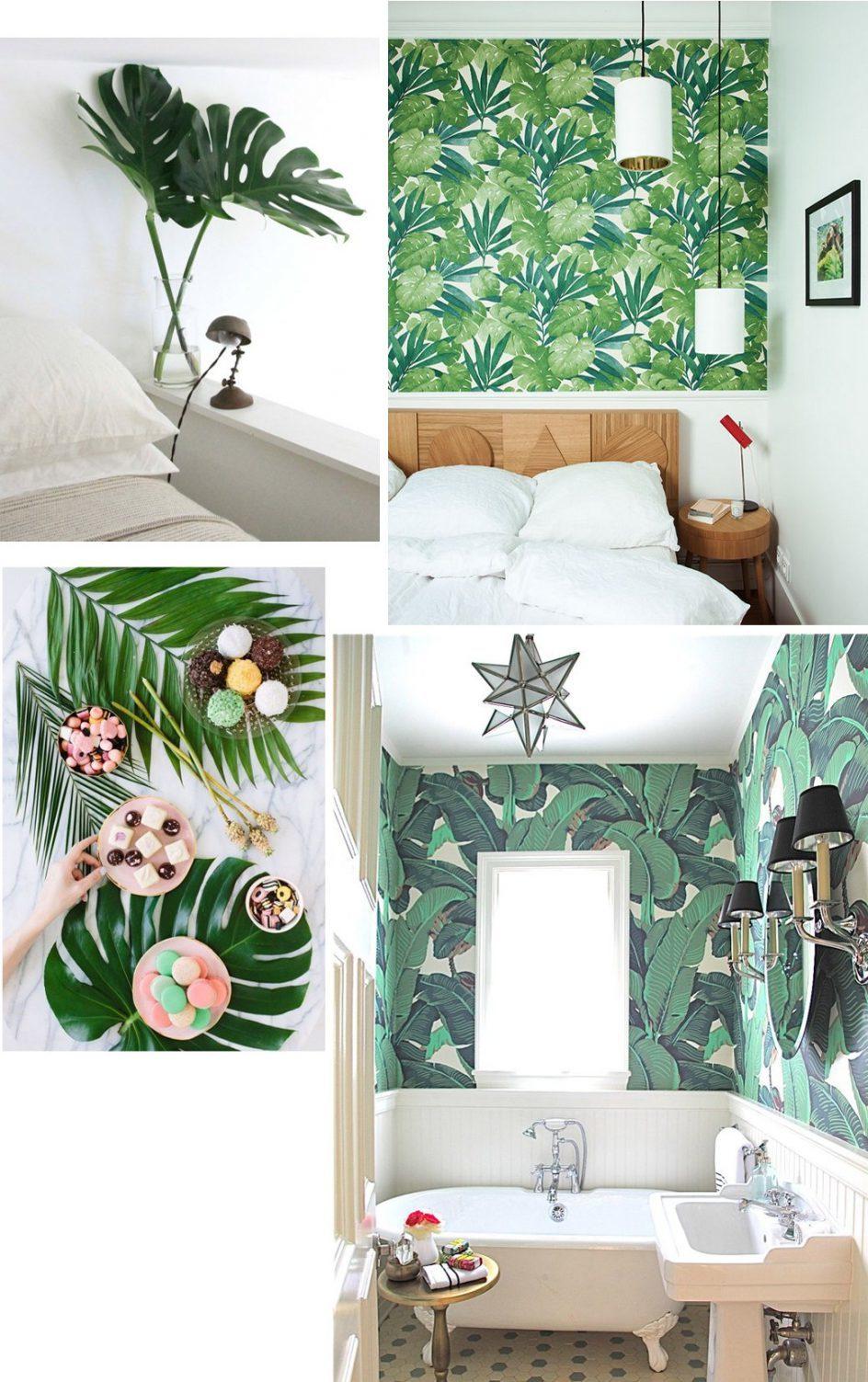 Das Zuhause wird zum Urlaubsparadies mit Tropisches Print