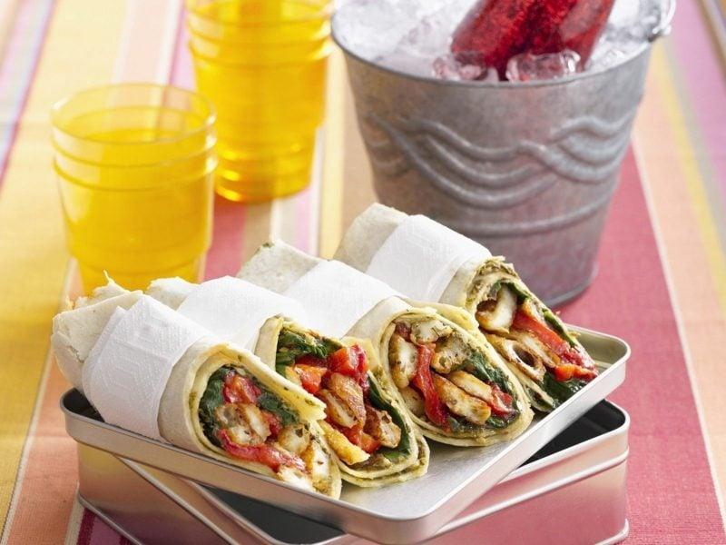 Actifry Rezepte vegetarische Wraps zubereiten