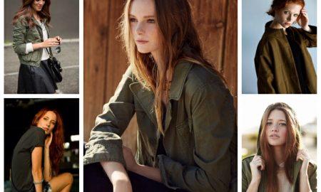 Khaki Farbe gelungen kombinieren Ideen und Tipps