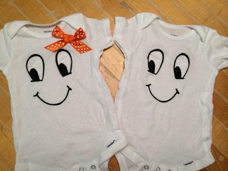 Body bemalen Babys Zwillinge