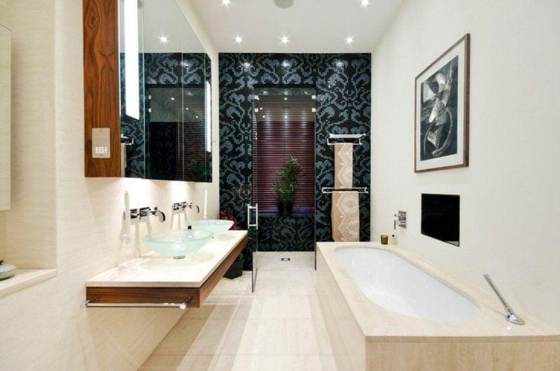 Bilder fürs Bad mennschliches Gesicht abstrakt