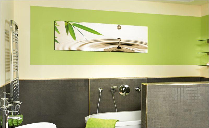 Bilder fürs Bad Wasser und Pflanze