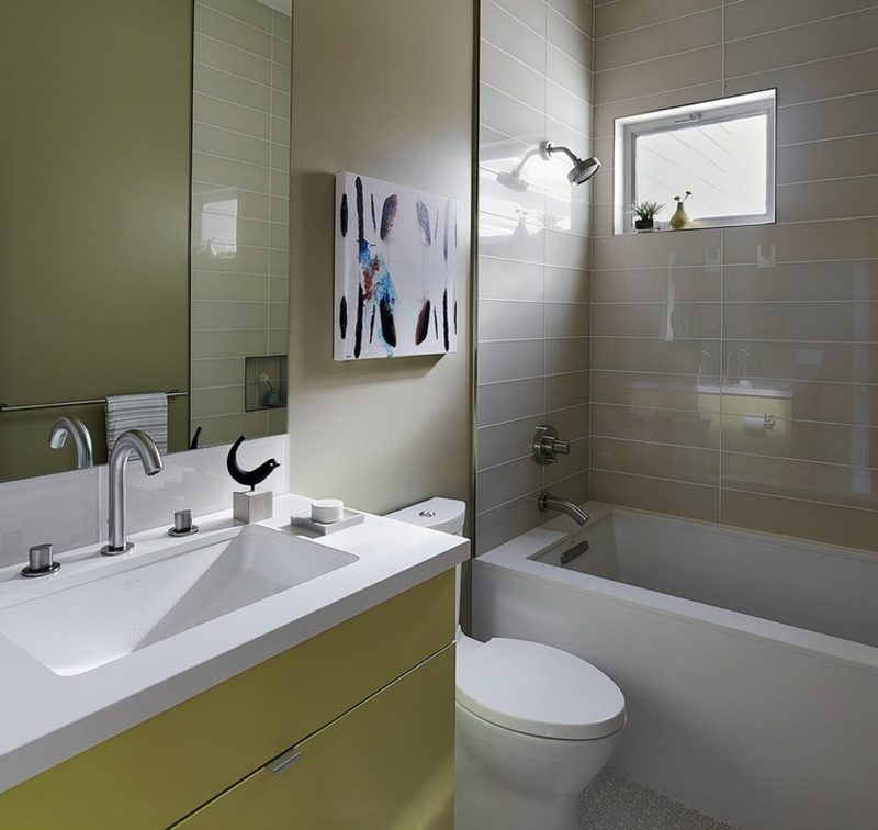 Bilder fürs Bad abstrakt Feder