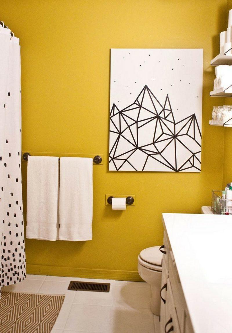 Bilder fürs Bad abstrakte Linien schwarz