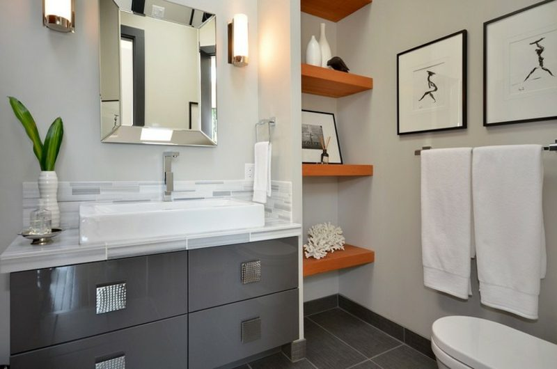 Bilder fürs Bad minimalistisch dezent Menschensilhouetten