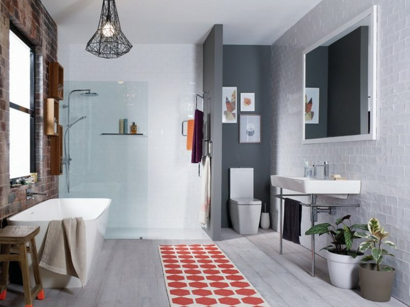 Bilder fürs Bad drei abstrakt klein WC