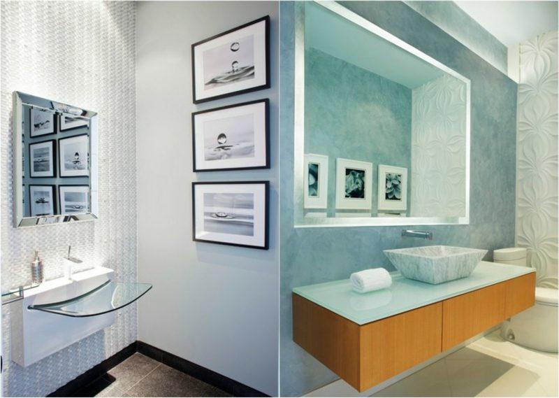 Bilder fürs Bad auswählen und anordnen