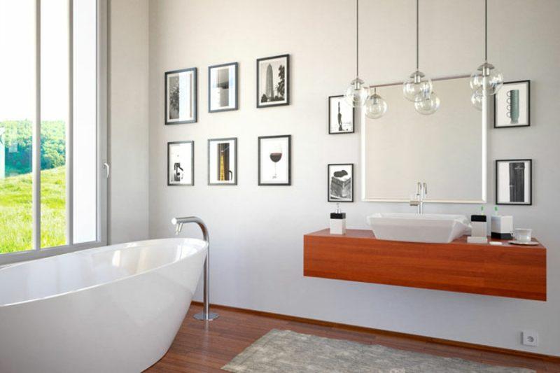 Bilder fürs Bad Anordnung originell