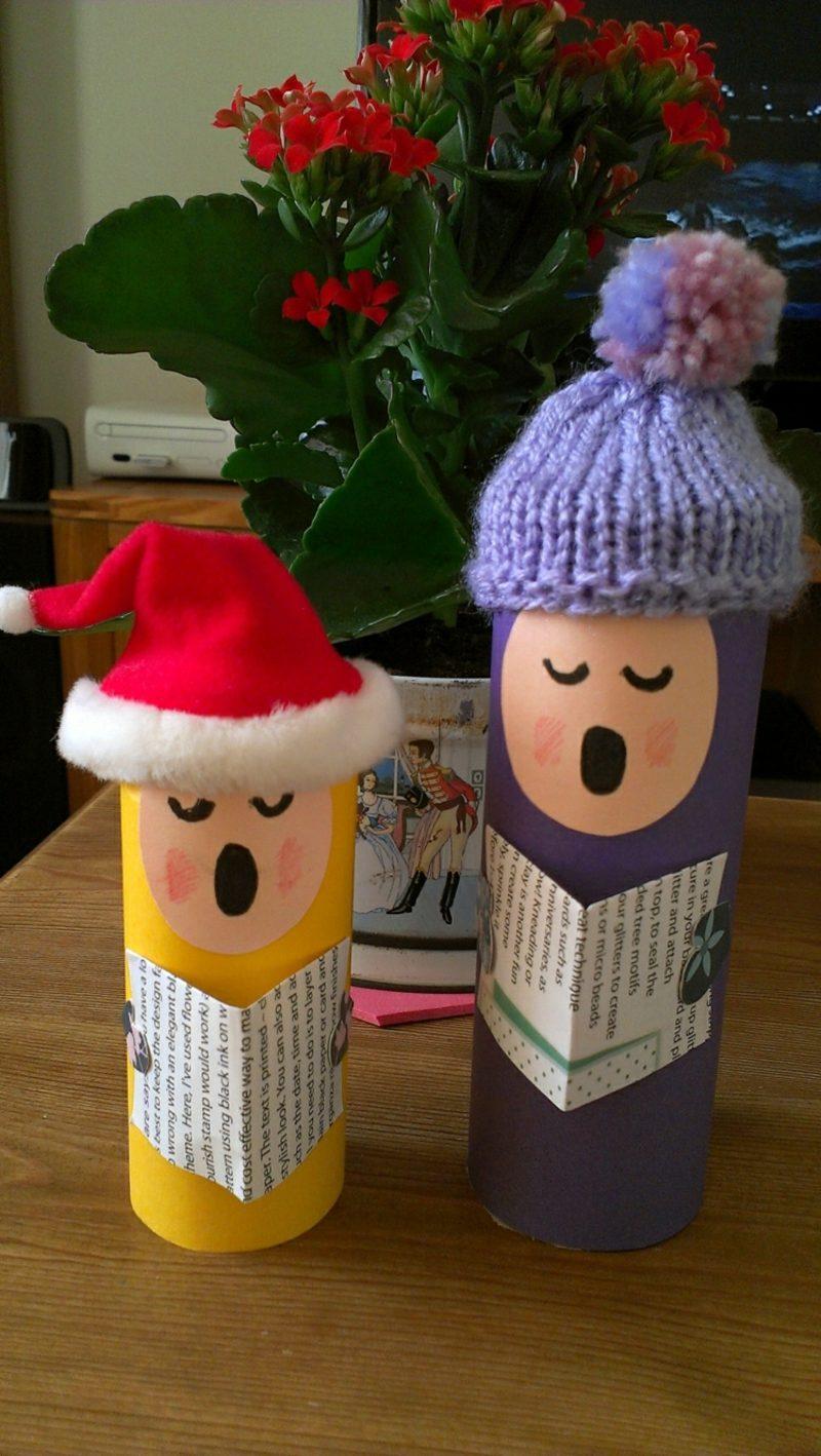 Basteln mit Klopapierrollen Weihnachten Chorsänger