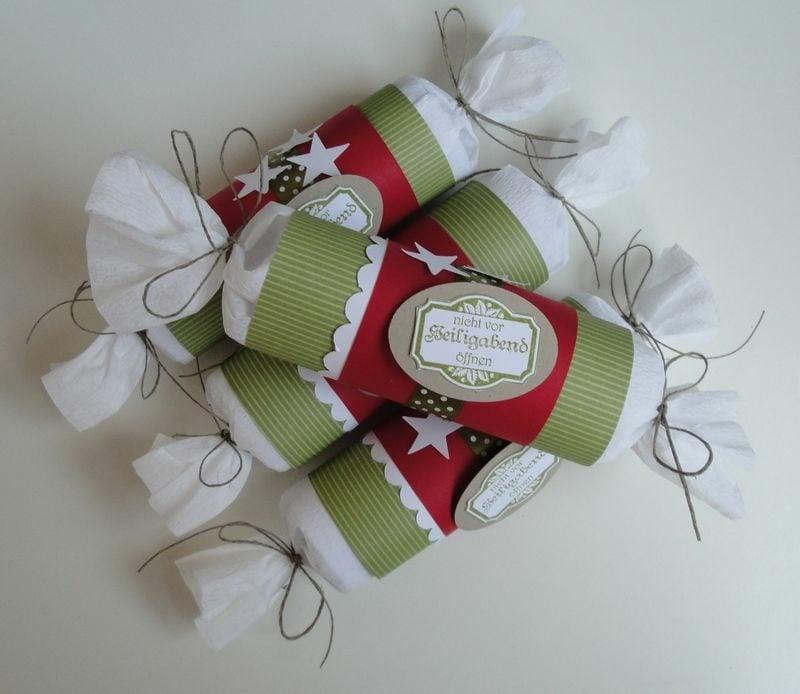 Basteln mit Klopapierrollen Weihnachten Geschenktüten Advents